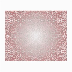 Pink Damask Glasses Cloth (small, Two Sided)