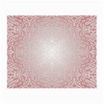 Pink Damask Glasses Cloth (Small, Two Sided) Front