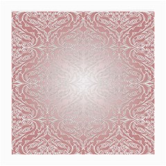 Pink Damask Glasses Cloth (medium, Two Sided)