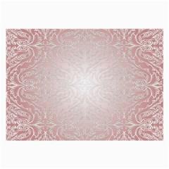 Pink Damask Glasses Cloth (Large)