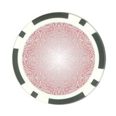 Pink Damask Poker Chip