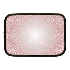 Pink Damask Netbook Case (medium)
