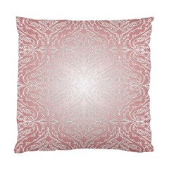 Pink Damask Cushion Case (One Side)
