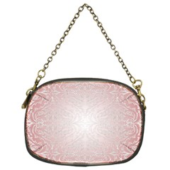Pink Damask Chain Purse (two Side)