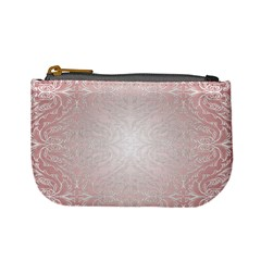Pink Damask Coin Change Purse