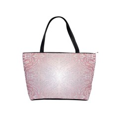 Pink Damask Large Shoulder Bag