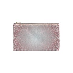 Pink Damask Cosmetic Bag (Small)