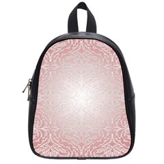Pink Damask School Bag (Small)