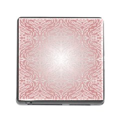 Pink Damask Memory Card Reader with Storage (Square)