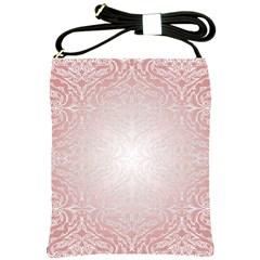 Pink Damask Shoulder Sling Bag