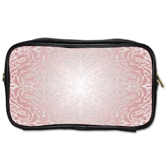 Pink Damask Travel Toiletry Bag (Two Sides)