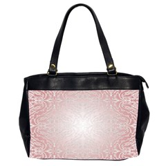 Pink Damask Oversize Office Handbag (Two Sides)