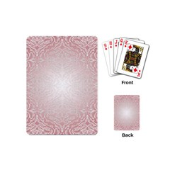 Pink Damask Playing Cards (Mini)