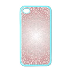 Pink Damask Apple iPhone 4 Case (Color)