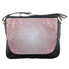 Pink Damask Messenger Bag