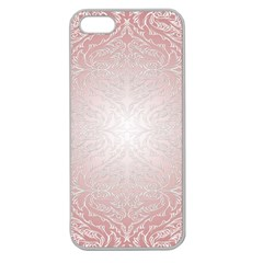 Pink Damask Apple Seamless iPhone 5 Case (Clear)