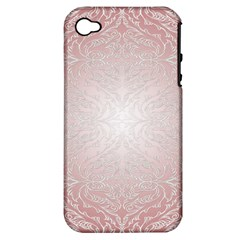 Pink Damask Apple iPhone 4/4S Hardshell Case (PC+Silicone)
