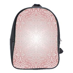 Pink Damask School Bag (XL)