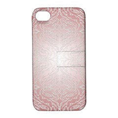 Pink Damask Apple iPhone 4/4S Hardshell Case with Stand