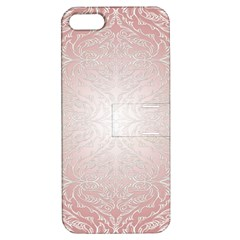 Pink Damask Apple Iphone 5 Hardshell Case With Stand