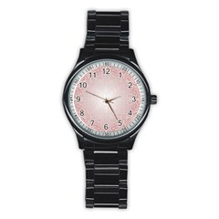 Pink Damask Sport Metal Watch (Black)