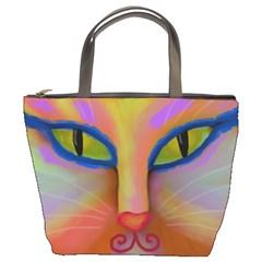 Cat Face Small Handbag Bucket Bag