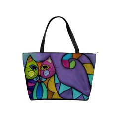 Cat Of Many Colors Large Handbag