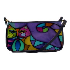Cat Of Many Colors Shoulder Clutch Handbag Evening Bag