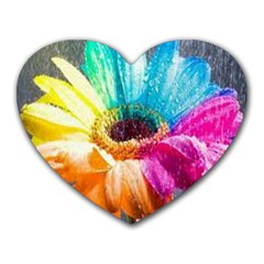 Colorful Flower Mouse Pad (heart)