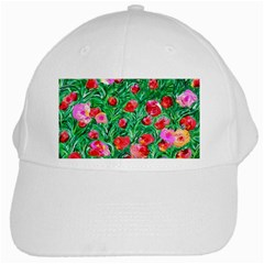 Flower Dreams White Baseball Cap