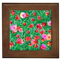 Flower Dreams Framed Ceramic Tile
