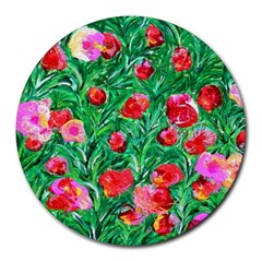 Flower Dreams 8  Mouse Pad (Round)