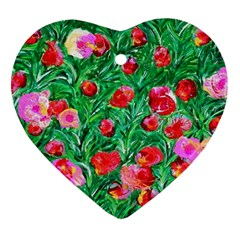 Flower Dreams Heart Ornament