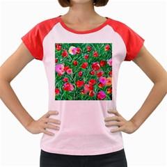 Flower Dreams Women s Cap Sleeve T-Shirt (Colored)