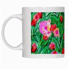 Flower Dreams White Coffee Mug