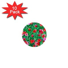 Flower Dreams 1  Mini Button Magnet (10 Pack)