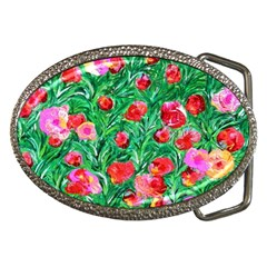 Flower Dreams Belt Buckle (Oval)