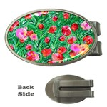 Flower Dreams Money Clip (Oval) Front