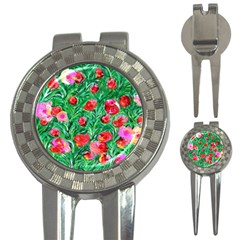 Flower Dreams Golf Pitchfork & Ball Marker