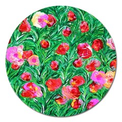 Flower Dreams Magnet 5  (round)