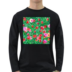 Flower Dreams Mens' Long Sleeve T Shirt (dark Colored)