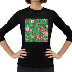 Flower Dreams Womens' Long Sleeve T-shirt (Dark Colored)