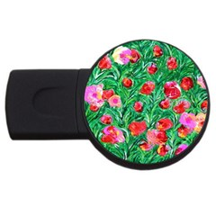 Flower Dreams 4gb Usb Flash Drive (round)