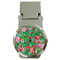 Flower Dreams Money Clip with Watch