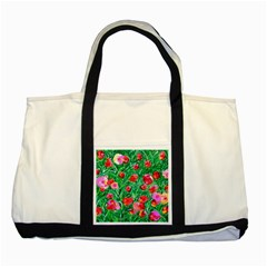 Flower Dreams Two Toned Tote Bag