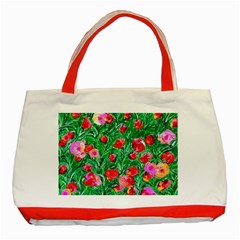 Flower Dreams Classic Tote Bag (Red)