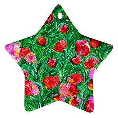 Flower Dreams Star Ornament (two Sides)