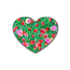 Flower Dreams Drink Coasters 4 Pack (Heart)