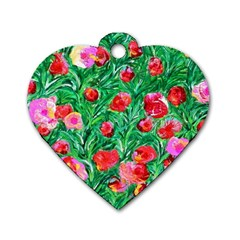 Flower Dreams Dog Tag Heart (One Sided)