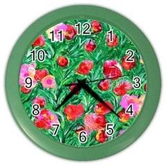 Flower Dreams Wall Clock (color)